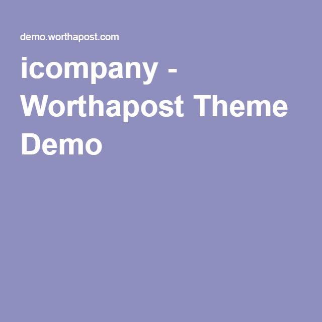 icompany - Worthapost Theme Demo