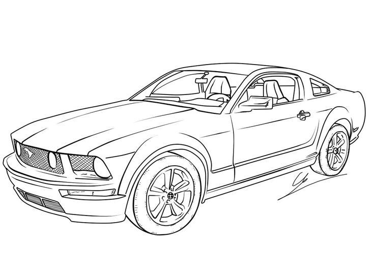 drawn car mustang gt 2