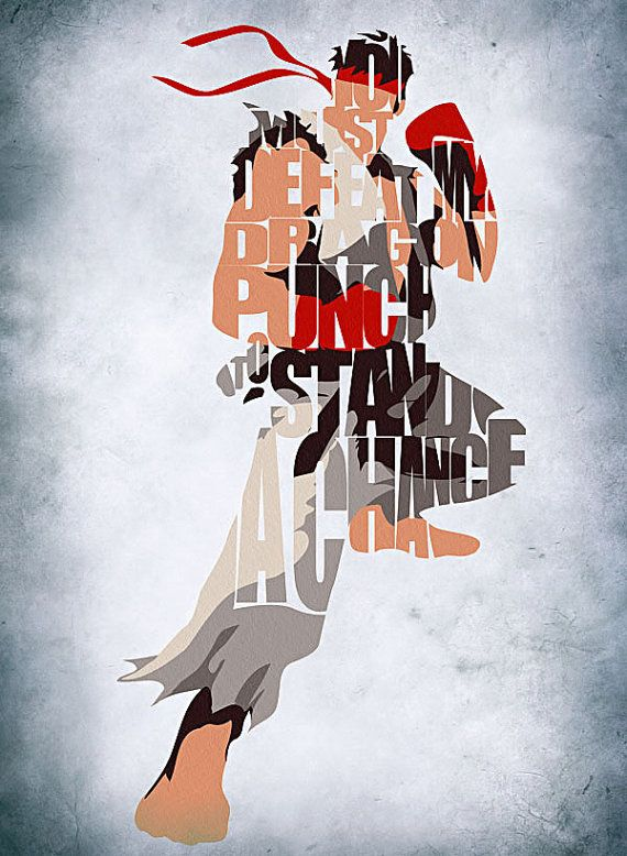 Street Fighter Inspired Ryu Poster by GeekMyWalL on Etsy, $25.00