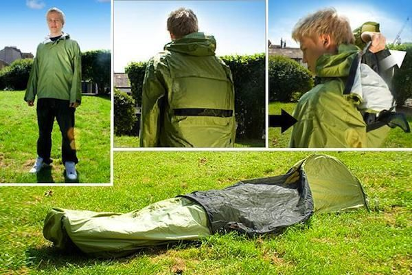 JakPak: Wearable Shelter if you're Thinking about Backpacking Dynamite idea for being stuck in the car in snow & ice or any other odd circumstance