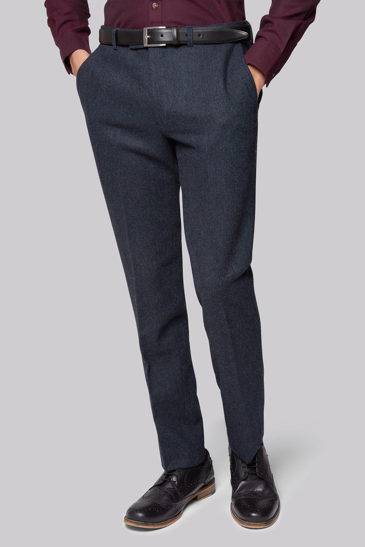 Moss London Blue Donegal Trousers Look sharp and feel great in these slim fit trousers by Moss London. Tailored to fit your physique perfectly, they give just the right amount of hug and freedom of movement to the busy, modern man. Sl http://www.MightGet.com/january-2017-12/moss-london-blue-donegal-trousers.asp