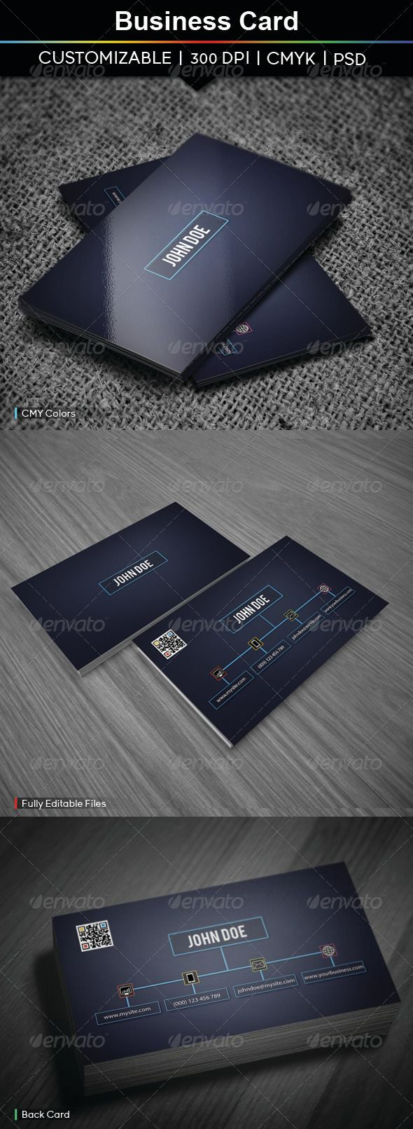 #Business #Card - #Creative Business Cards Download here: https://graphicriver.net/item/business-card/3887485?ref=alena994