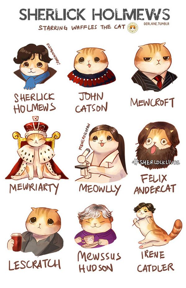 Brace Yourself: Pictures of a Scottish Fold as Anime, Disney, and Sherlock Holmes Characters | Catster