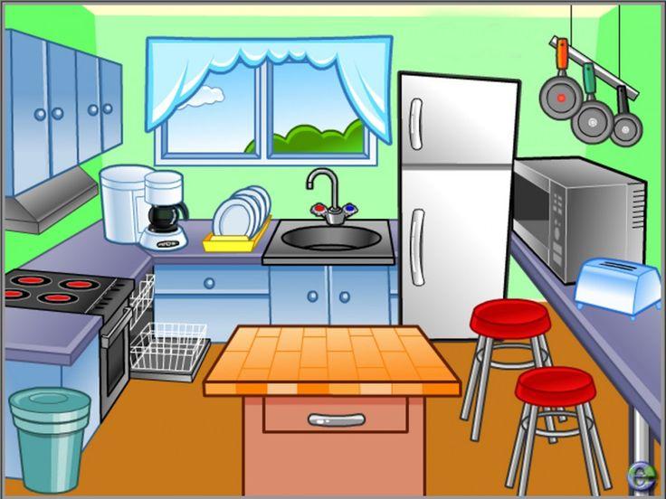 Кухня в картинках для детей, утром любимый