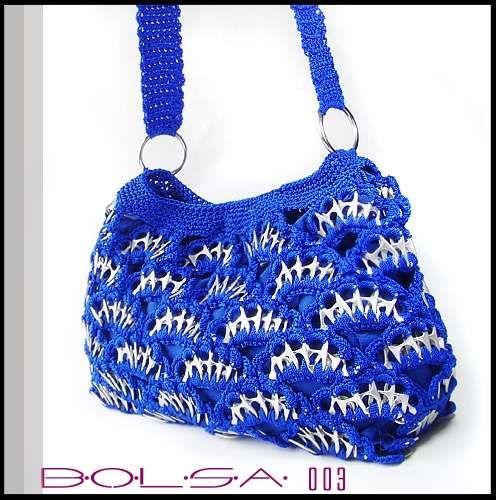 COMO TEJER Bolsas Con Fichas | Fotos de bolsas tejidas con arillas de lata ecologicas en Puebla