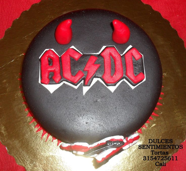 Cake AC DC hecha en Cali Colombia