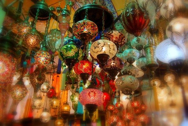 Lights sold in the Grand Bazaar of Istanbul