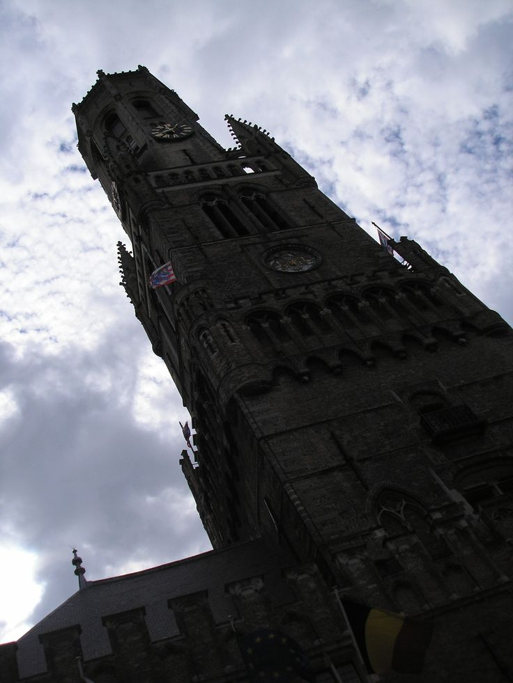 looking up at the Bruges belfry