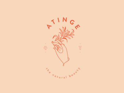 Atinge Logo and Hand Illustration by Cocorrina.