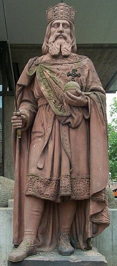 Saint Charlemagne (Carolus Magnus), Holy Roman Emperor.