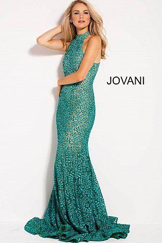 b42f2b1cf9 Teal Nude High Neck Racer Back Fitted Lace Prom Dress 59908  Jovani   PromDress  EveningDress  fashion