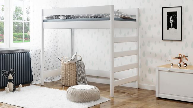 Letto a soppalco Hubi H2 Bed linens luxury, High sleeper