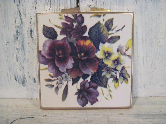 Vintage small pill box case holder purse by HTArtcraftAndVintage