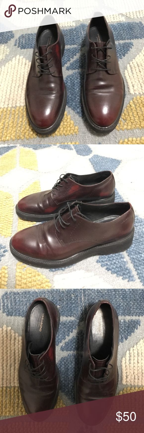 Vagabond shoes Maroon vagabond shoes size 41. Slight scuffs on insides of them but removable with a maroon shoe wax. Fits like a 10 Shoes Flats & Loafers