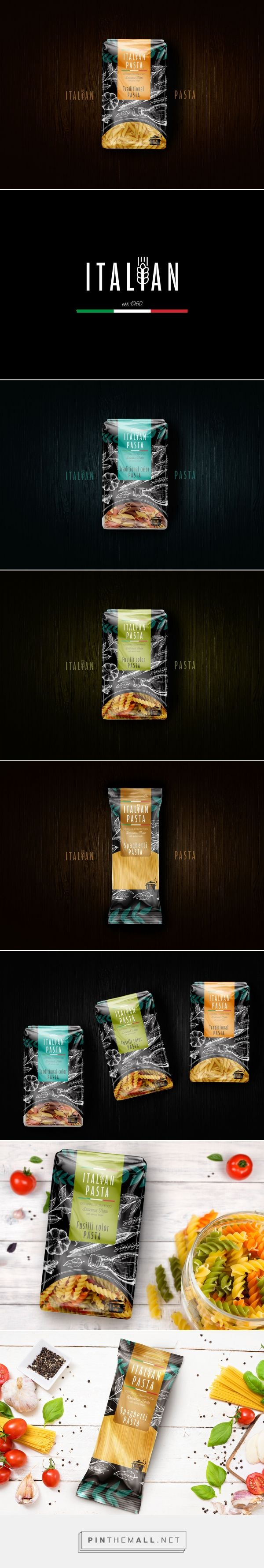 Italian Pasta brand by Farad Mahmoud. Source: Behance. Pin curated by#SFields99 #packaging #design #inspiration #ideas #product #branding#pasta #creative