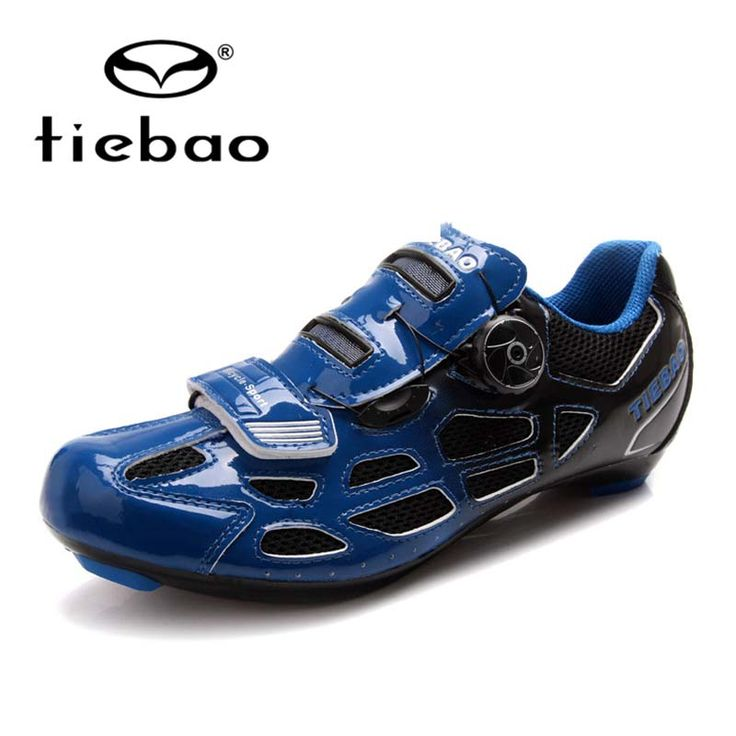 Tiebao Auto-lock Bicycle Sport Shoes Mens Road Cycling Shoes PU & Mesh Breathable Road Bike Shoes  TB16-B1259