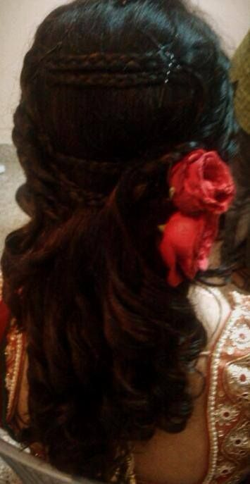 Indian Bride S Reception Hairstyle Created By Swank Studio