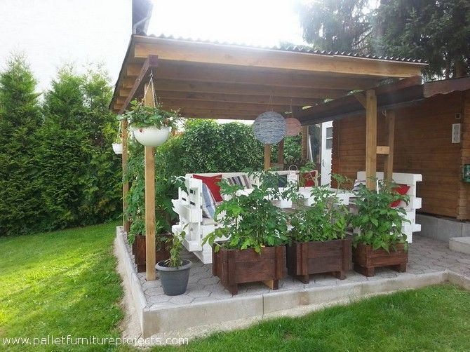 34 best images about front yards on pinterest gardens for Wood pallet gazebo