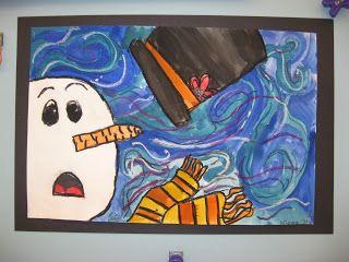 Jamestown Elementary Art Blog: 3rd Grade Van Gogh Snowmen