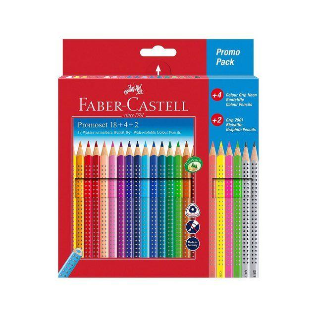 Faber Castell Buntstifte Colour Grip 18 4 Farben Inkl 2 Bleistifte Online Kaufen Buntstifte Faber Castell