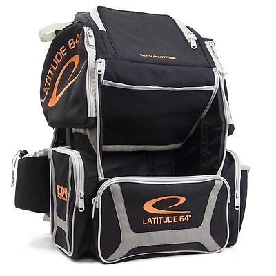 Latitude 64 Golf Discs DG Luxury E3 Backpack Disc Golf Bag - Black/Silver