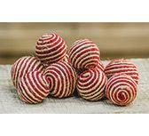 KP Creek Gifts - striped jute balls (10 per set)