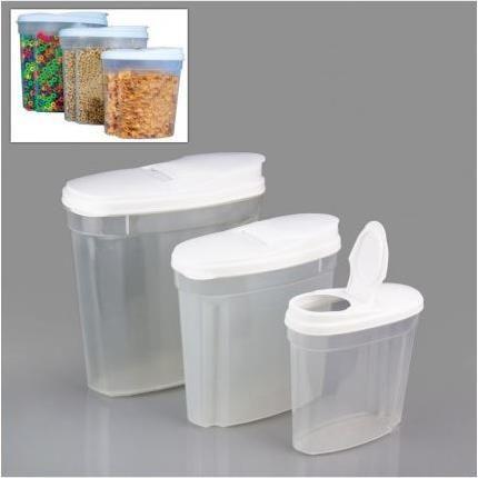 3 Parça Kuru Gıda Saklama Kabı Seti ( 10 Lt )   yakalagidiyor.com