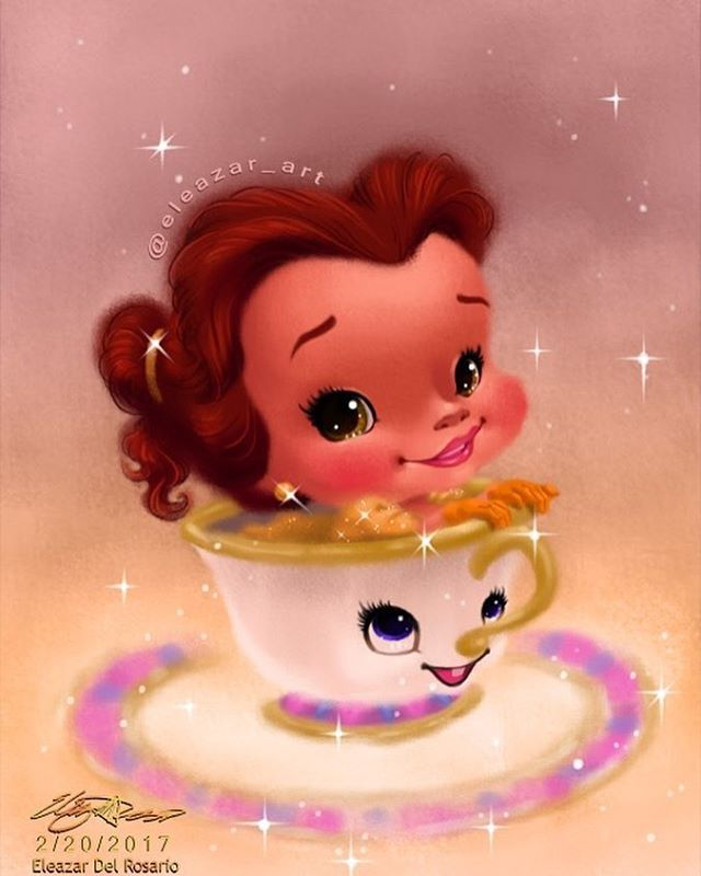 "775 Likes, 47 Comments - Eleazar Aguinaldo Del Rosario (@eleazar_art) on Instagram: ""Cutesified Disney characters are just my cup of tea. . . . . . . . . . . #princeadam #belle…"""