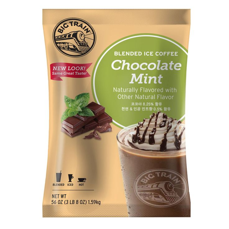 Big Train Chocolate Mint Blended Ice Coffee Mix - 3.5 lb.