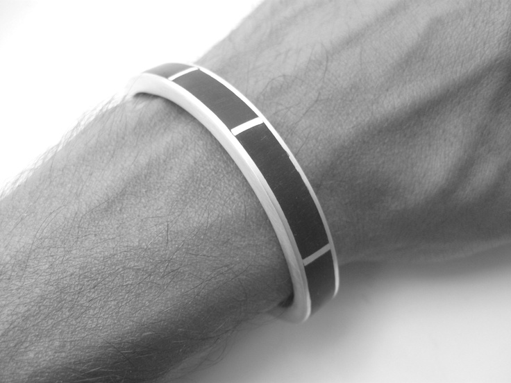 Bracelet  Silver and Ebony