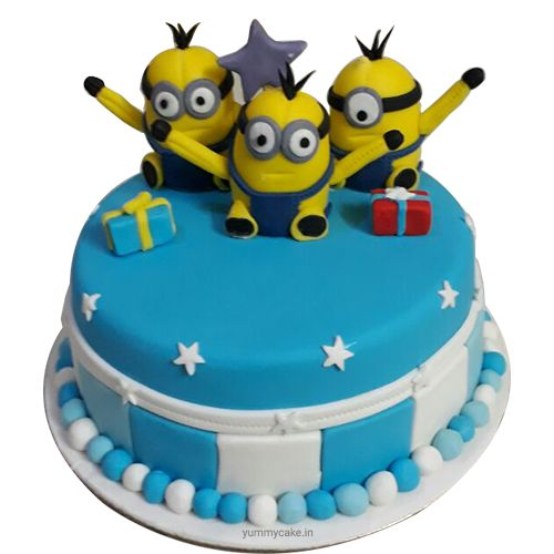 Buy customized designer #minionbirthdaycake from best cake shop in Delhi