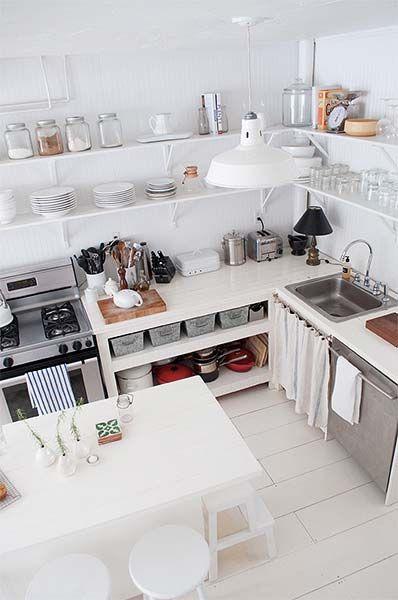 Decoração: Cozinha sem armários | Just Lia