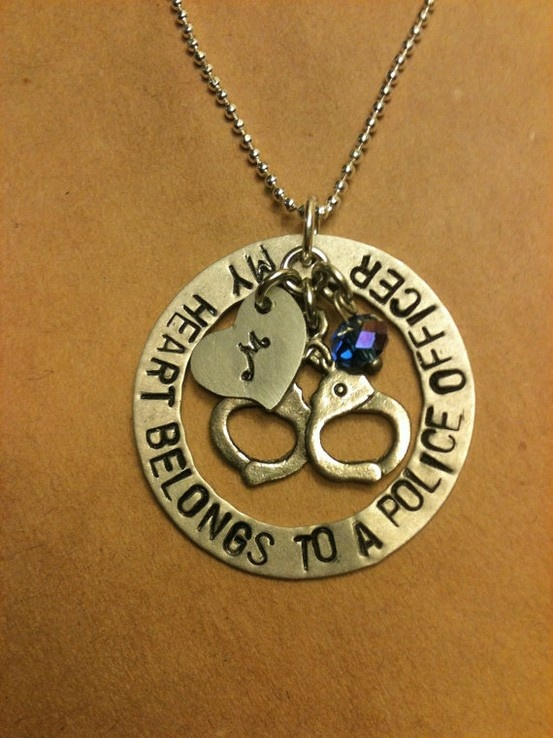 :)Police Offices, Hands Stamps, Stuff, Police Wife, Heart Belong, My Heart, Police Officer Wife, Wife Necklaces, Jewelry