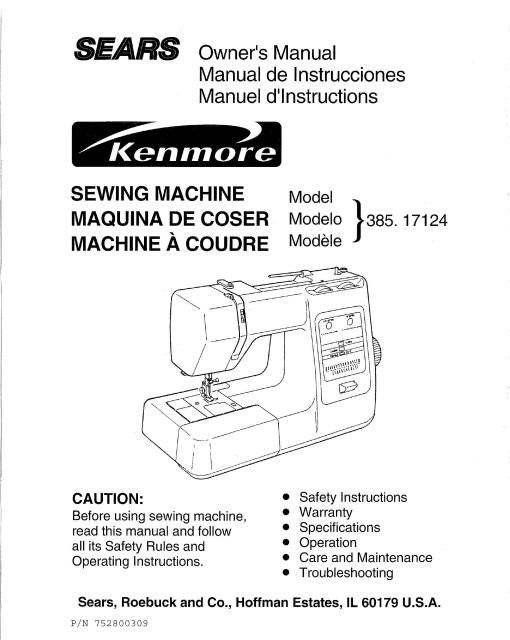 Kenmore 4040 Sewing Machine Instruction Manual Sewing Machine New Sewing Machine Tension Adjustment