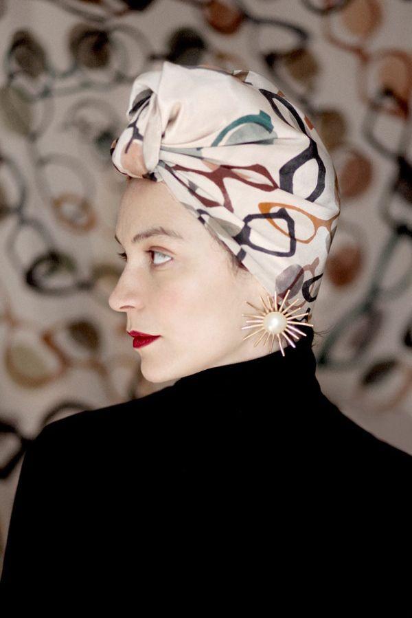 """SuTurno """"Lunettes"""" silk scarf  http://shop.suturno.net/product/lunettes-scarf Photo: Lourdes Cabrera http://www.lourdescabrera.es/ Model: Andrea Pimentel"""