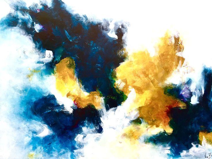 "Letting Go by Viviane Bergevin (Acrylic, 30""x40""). Canadian artist, Ottawa artist, abstract artist."