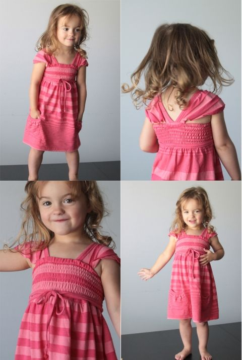 If you were reading along over the weekend you've already hear the whole story of this dress, but here's the short version: Lily really thinks she NEEDS more pink dresses. I don't, but I caved. I found a tee at the thrift store that looked like it was just asking to be a little girl's …