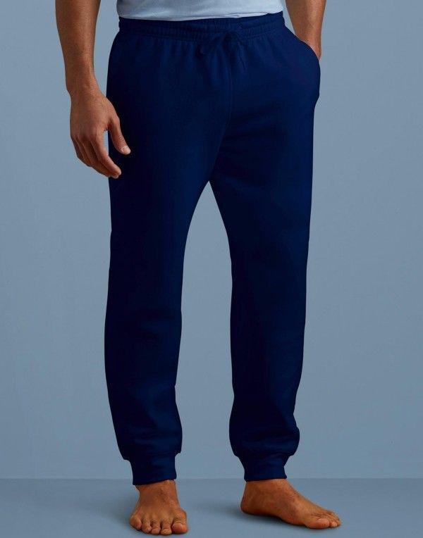 Comodo pantalone uomo felpato relax o per sport fondo a costine da S a 5XL