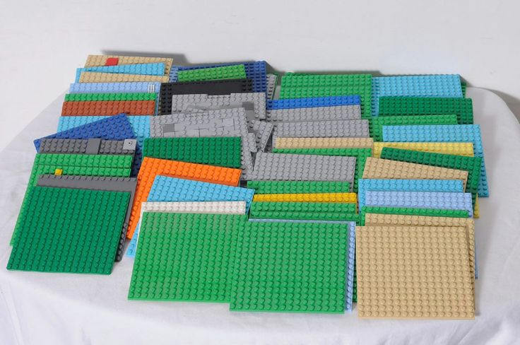 55 Pieces LEGO Assorted Platforms Building Base Plates Parts Lot #LEGO