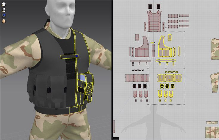 MD Military Tactical Vest with M16 mags insert by me
