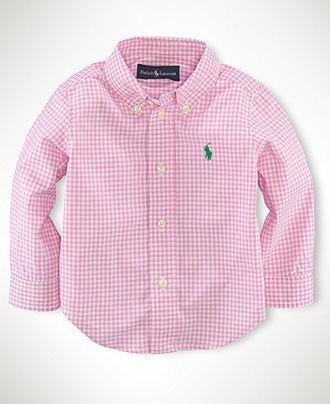 Ralph Lauren Baby Shirt Baby Boys Blake Long Sleeved