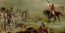 Waterloo le général Hill demandant au dernier carré de la garde impériale de se rendre.