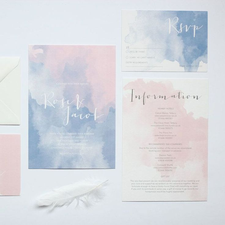 Rose quartz and serenity wedding suite Luxury watercolour wedding invitation Pantone 2016 rose-quartz-serenity-watercolour-wedding-invitation-suite3.jpg