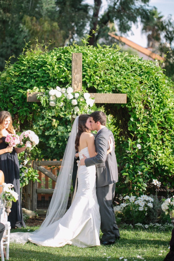 Cross. Photography By / troygrover.com, Wedding Coordination By / beforeidoevents.com, Floral Design By / flowersannettegomez.com