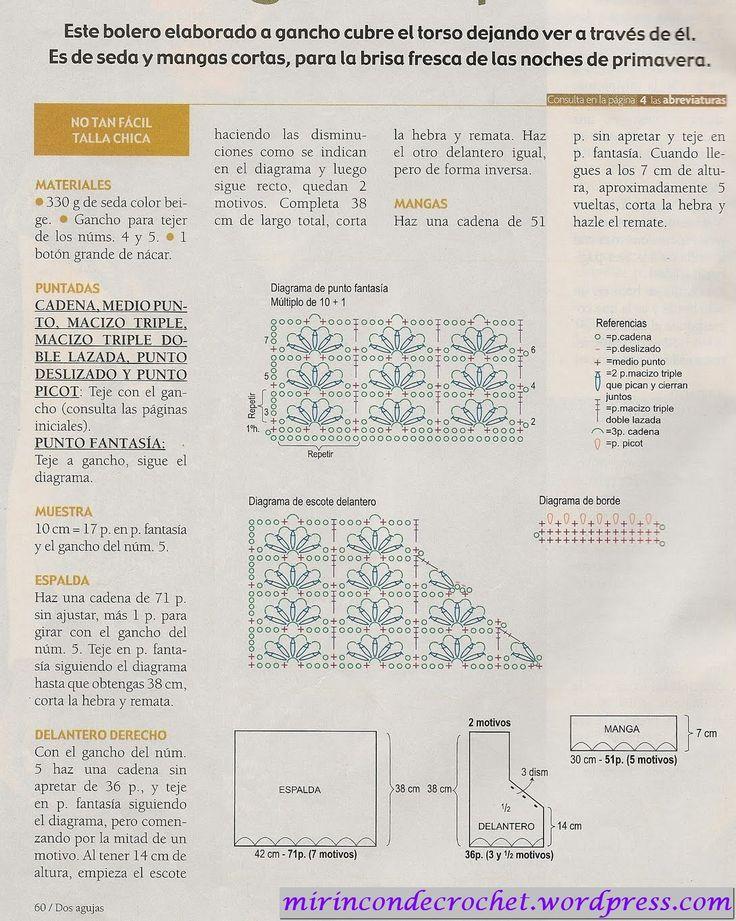 Bolero en natural | Mi Rincon de Crochet