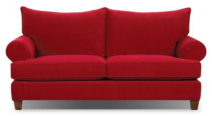 Paige Microsuede Sofa - Red | The Brick