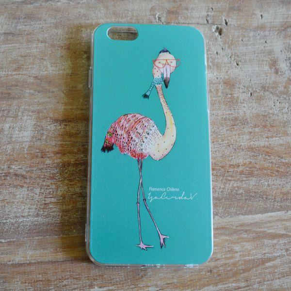 Iphone cases Diseño Flamenco Chileno de IsabelCerda en Etsy