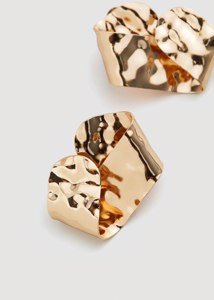 Boucles d'oreilles relief - f pouBoucles d'oreille Femme | MANGO France