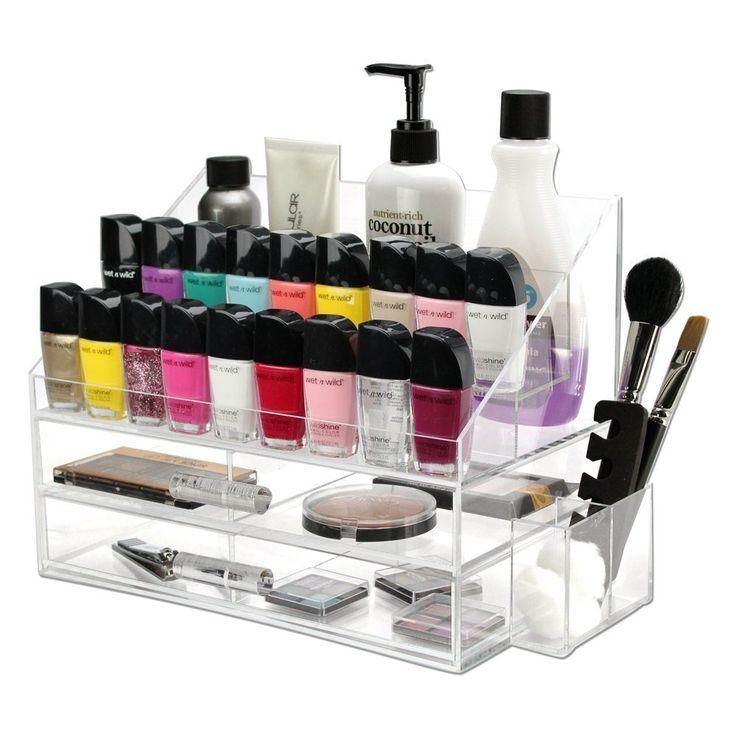 Ikee Design Premium Acrylic Cosmetic Nail Polish Organizer Case
