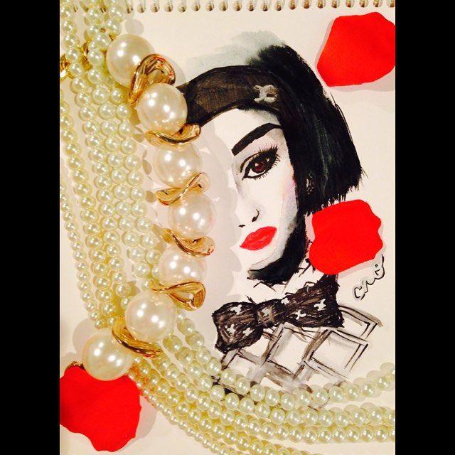 SUPR10月号の表紙が素敵すぎて❤︎ #chanel#CHANEL#2015AW#ilustration#fashionilustration#ilustration#art#シャネル# -